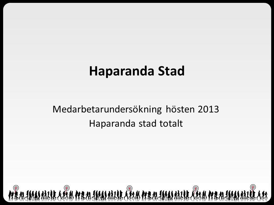 Medarbetarundersökning hösten 2013 Haparanda stad totalt