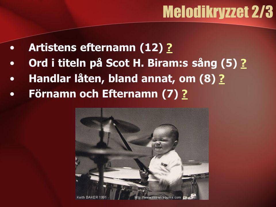 Melodikryzzet 2/3 Artistens efternamn (12)
