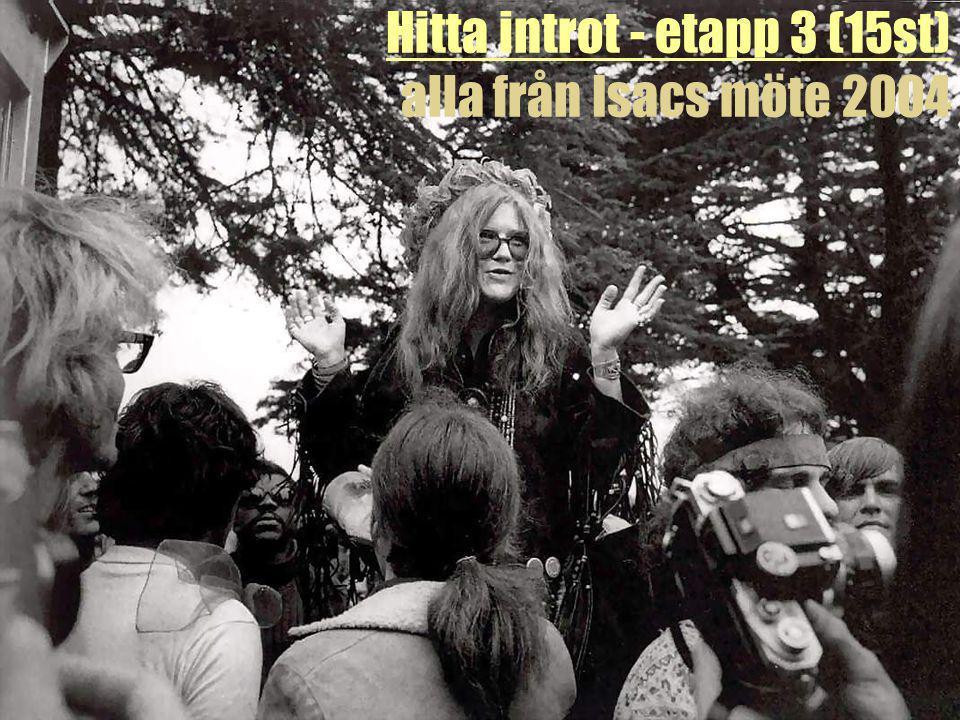 Hitta introt - etapp 3 (15st) alla från Isacs möte 2004