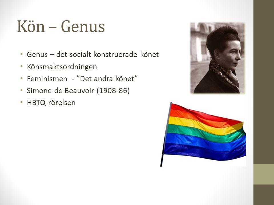 Kön – Genus Genus – det socialt konstruerade könet Könsmaktsordningen
