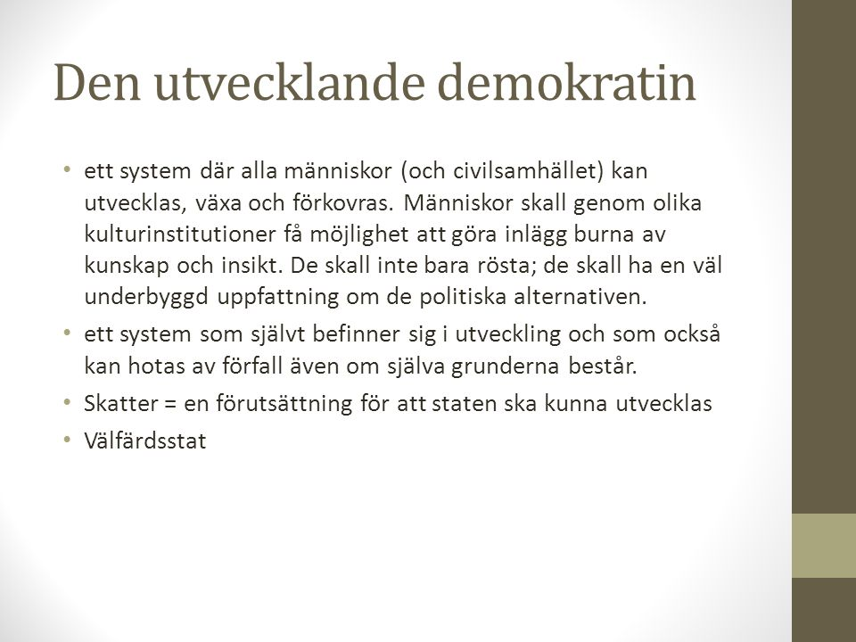 Den utvecklande demokratin