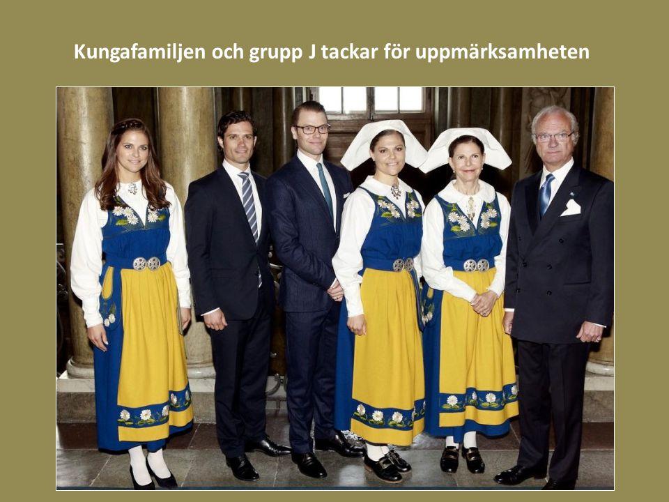 Kungafamiljen och grupp J tackar för uppmärksamheten