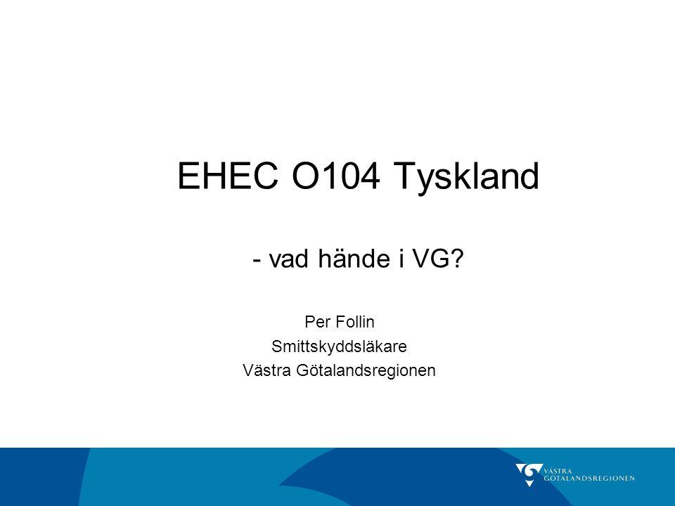 EHEC O104 Tyskland - vad hände i VG