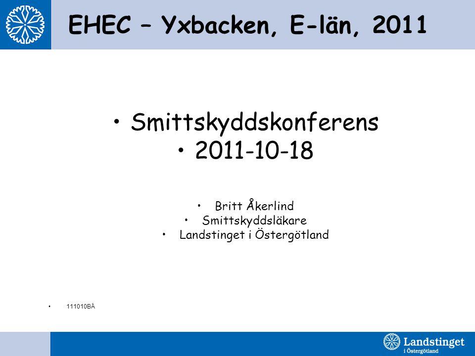 Smittskyddskonferens 2011-10-18