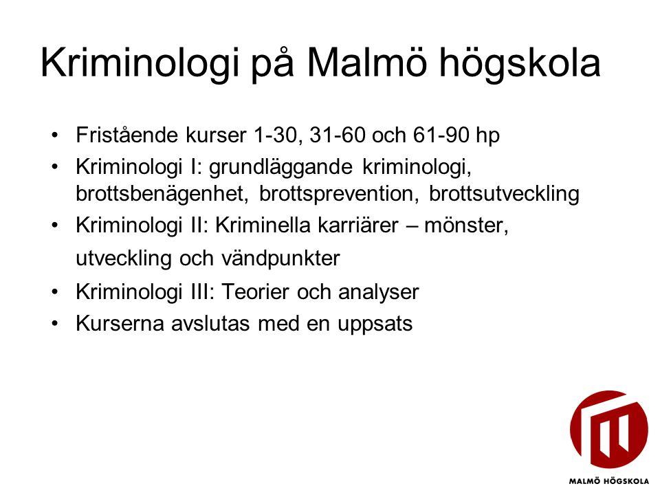 Kriminologi på Malmö högskola