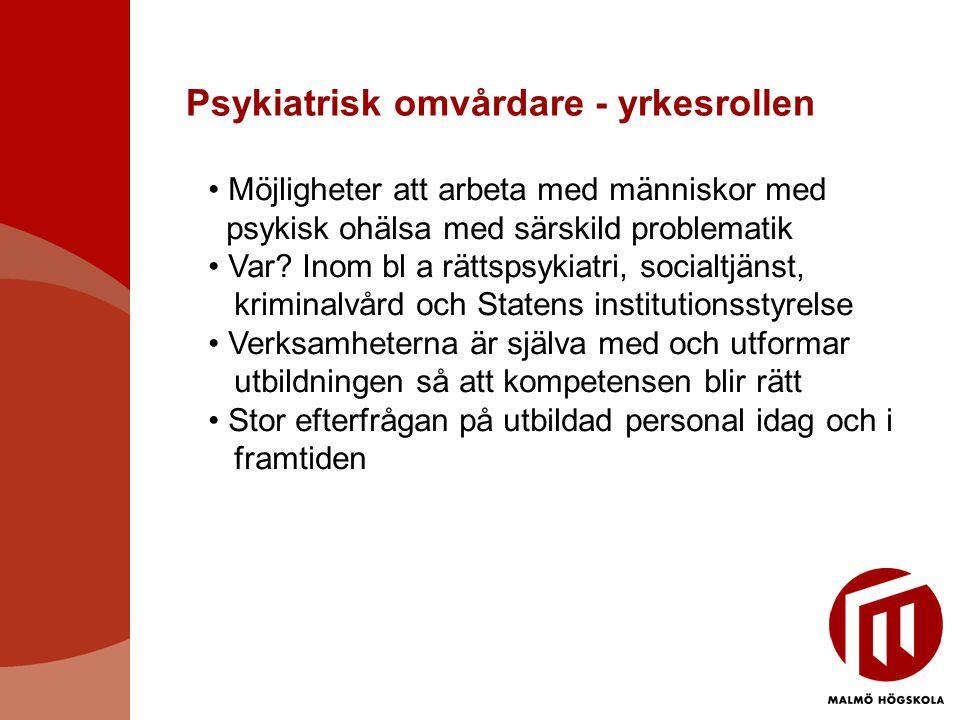 Psykiatrisk omvårdare - yrkesrollen