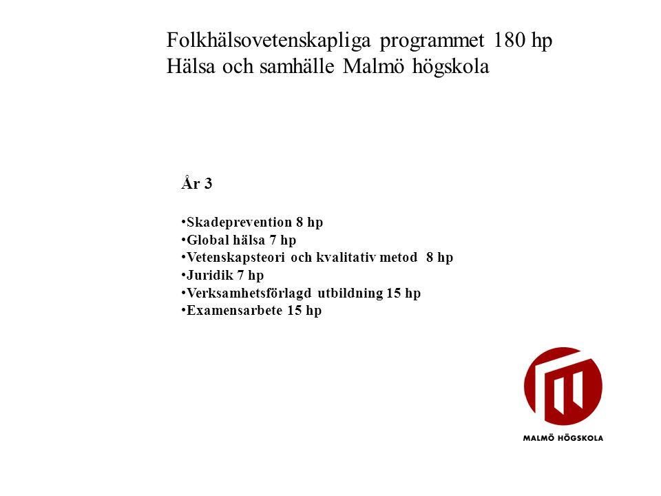 Folkhälsovetenskapliga programmet 180 hp