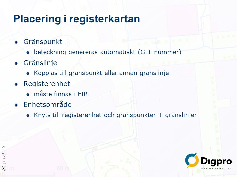 Placering i registerkartan
