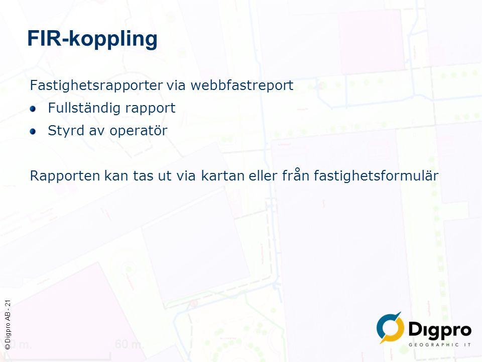 FIR-koppling Fastighetsrapporter via webbfastreport