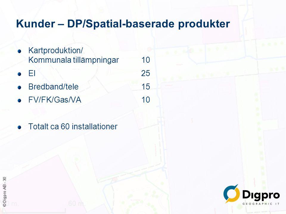 Kunder – DP/Spatial-baserade produkter