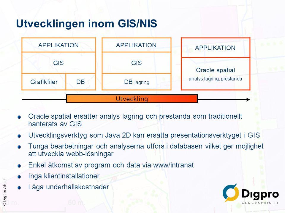 Utvecklingen inom GIS/NIS