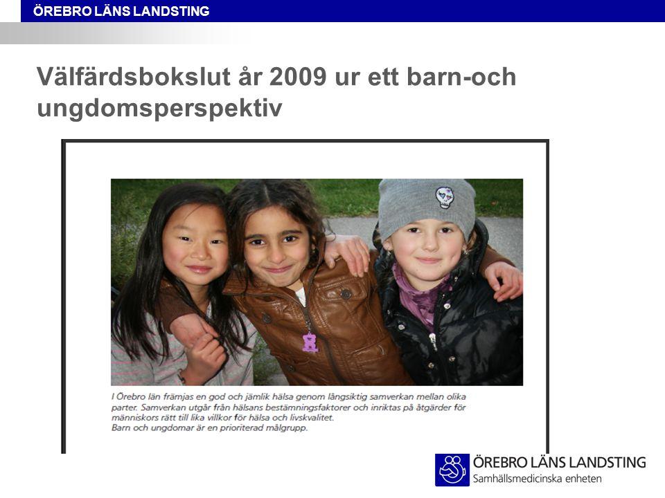 Välfärdsbokslut år 2009 ur ett barn-och ungdomsperspektiv