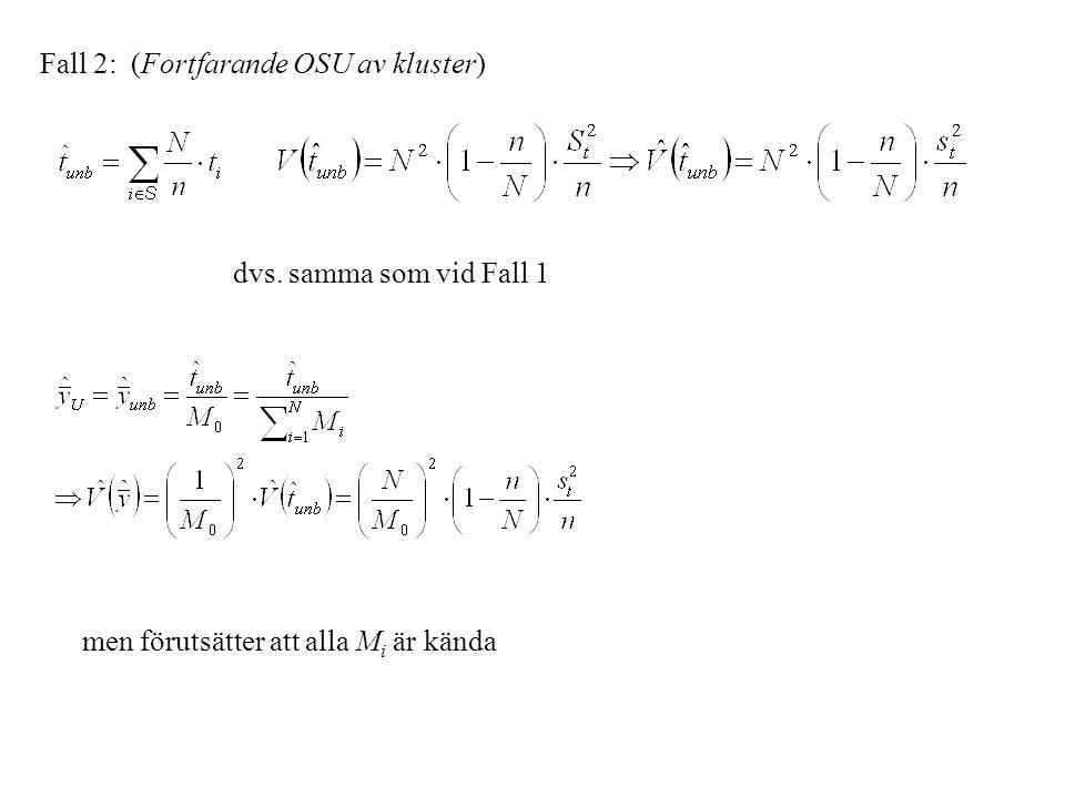 Fall 2: (Fortfarande OSU av kluster)