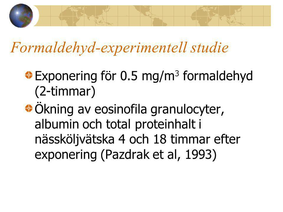 Formaldehyd-experimentell studie