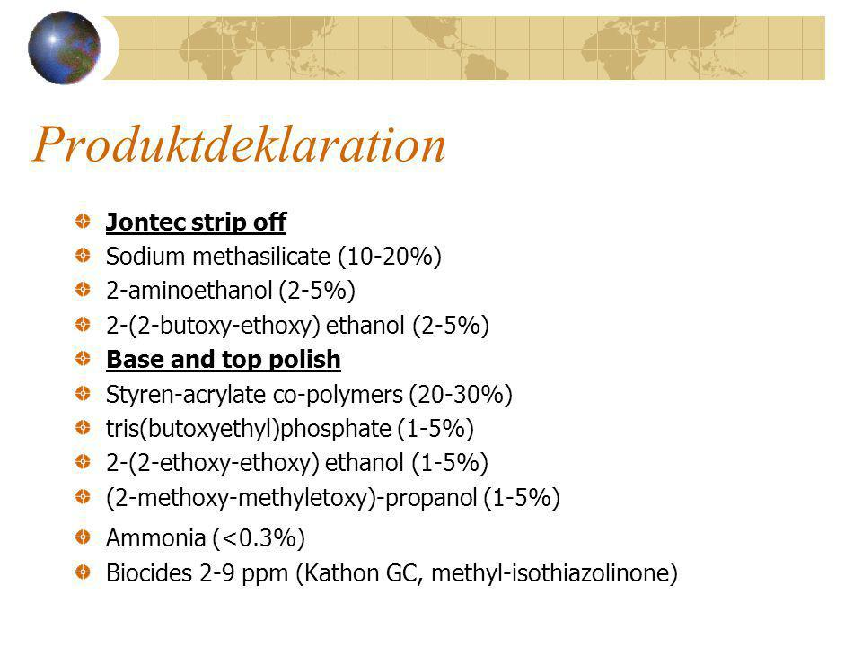 Produktdeklaration Jontec strip off Sodium methasilicate (10-20%)