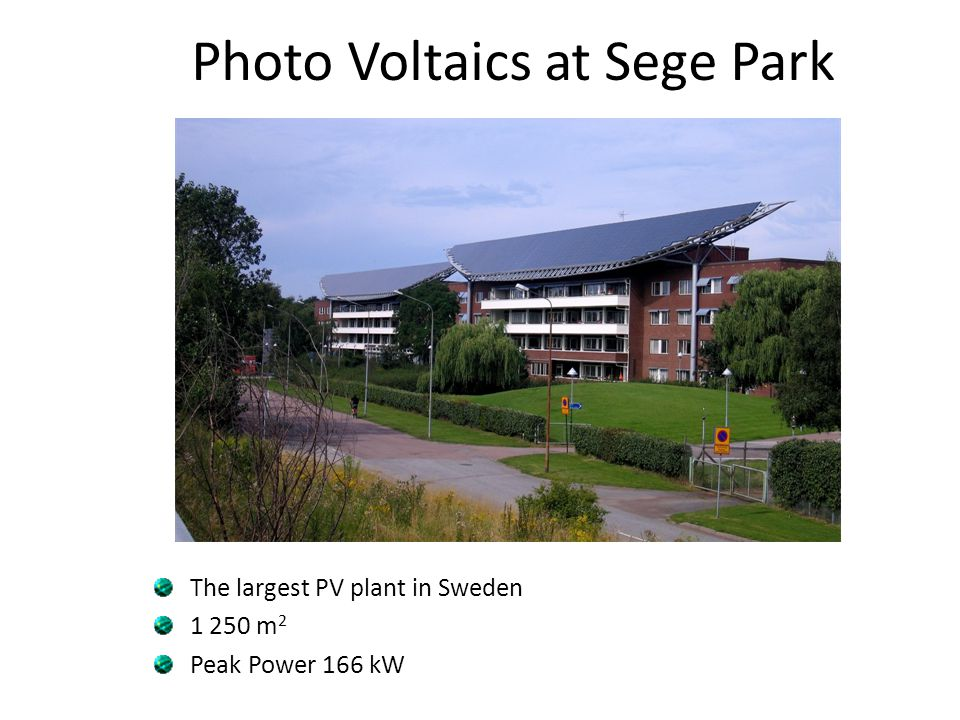 Photo Voltaics at Sege Park