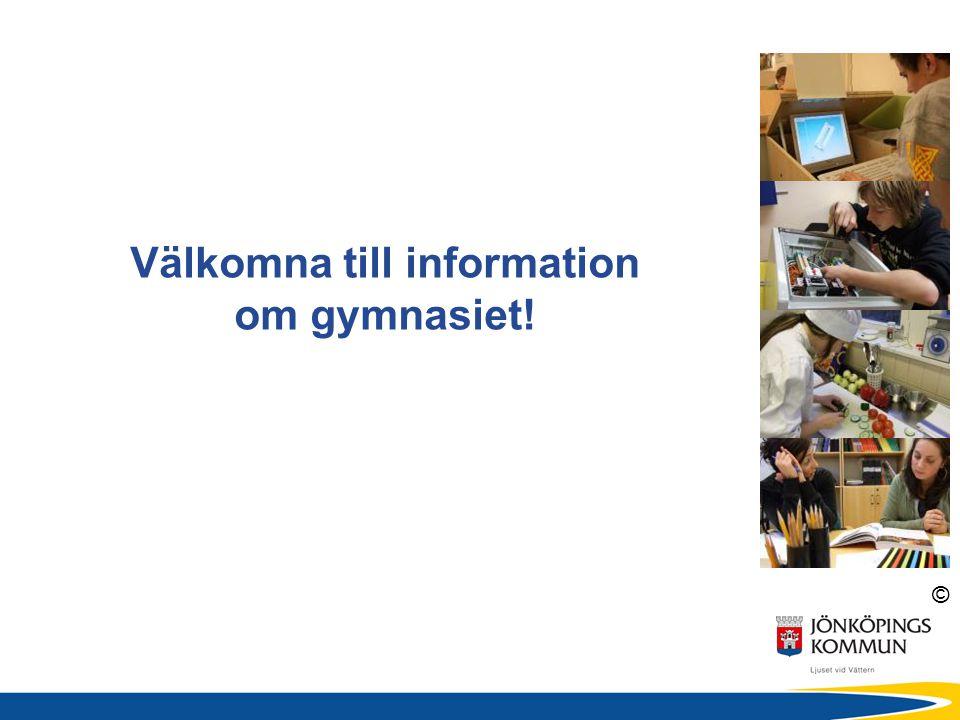 Välkomna till information