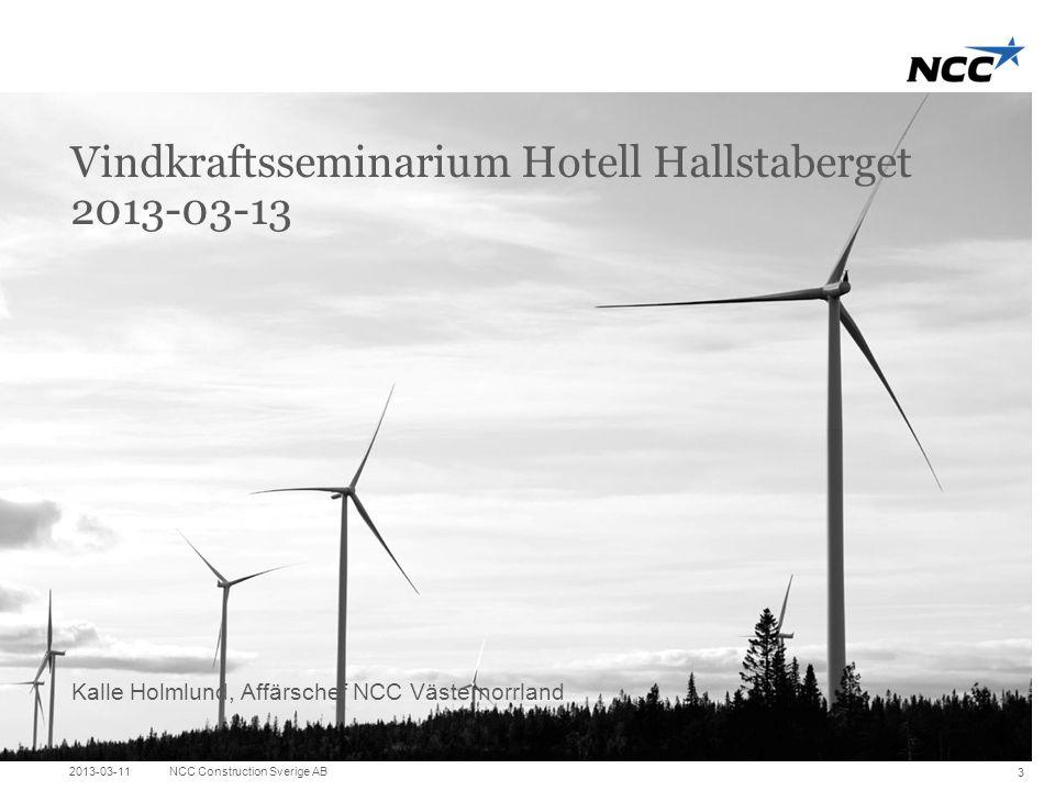 Vindkraftsseminarium Hotell Hallstaberget 2013-03-13