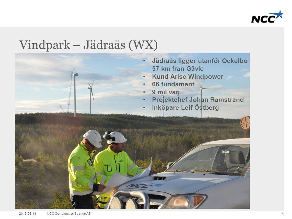 Vindpark – Jädraås (WX)