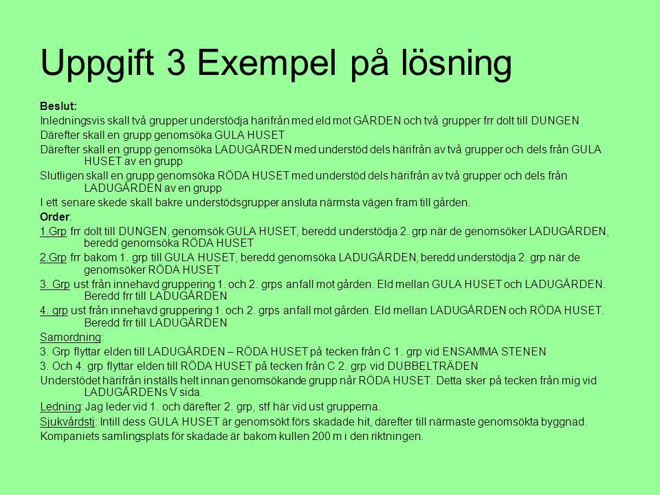 Uppgift 3 Exempel på lösning