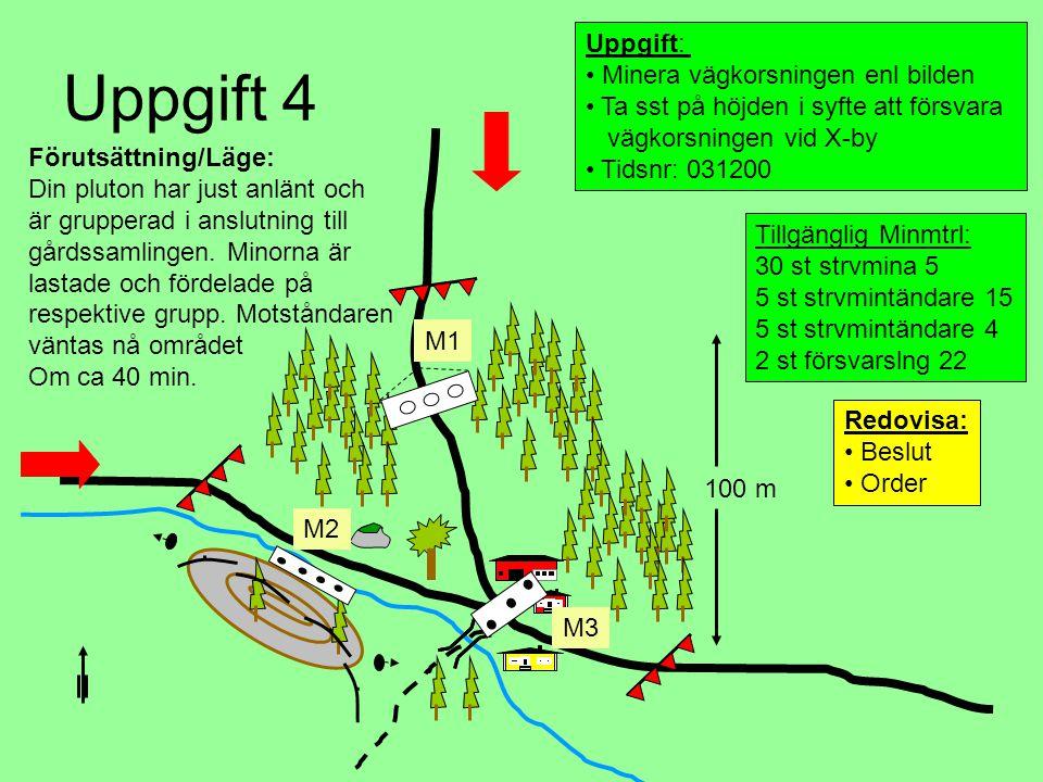 Uppgift 4 Uppgift: Minera vägkorsningen enl bilden