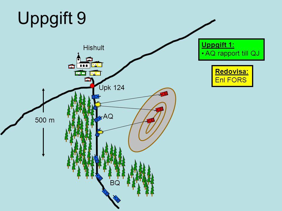 Uppgift 9 Uppgift 1: Hishult AQ rapport till QJ Redovisa: Enl FORS