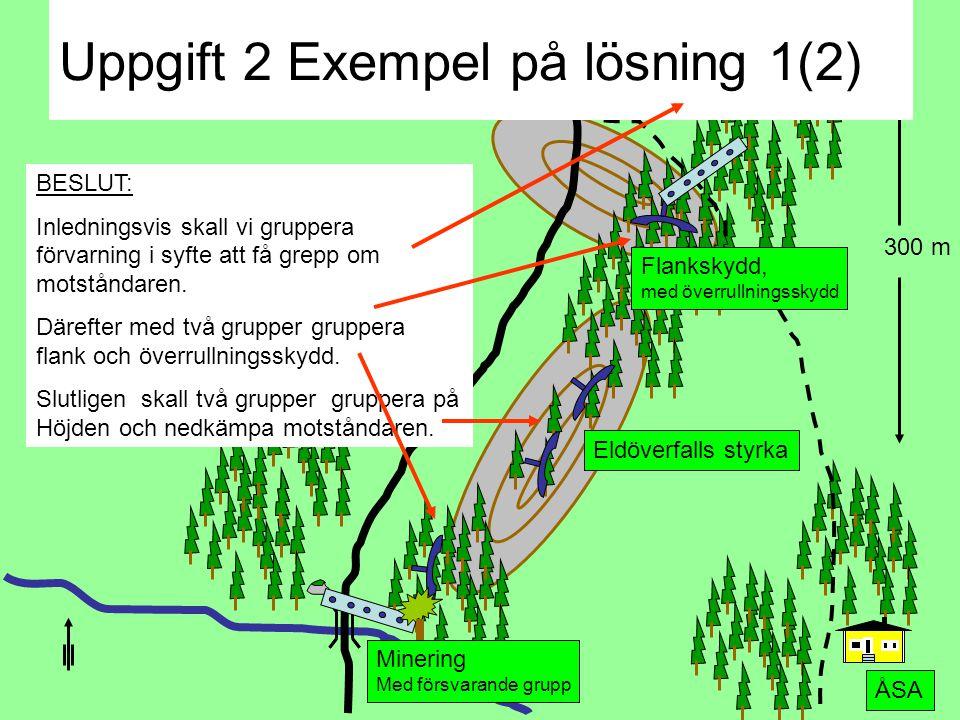 Uppgift 2 Exempel på lösning 1(2)