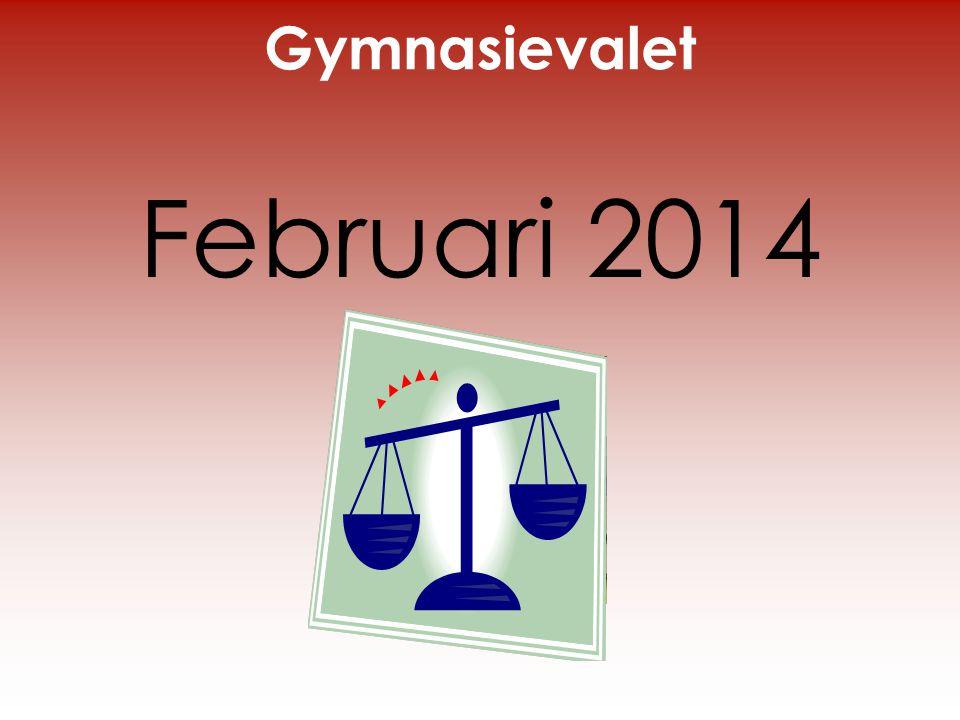 Gymnasievalet Februari 2014