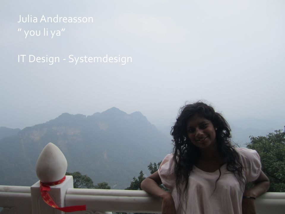 Julia Andreasson you li ya IT Design - Systemdesign