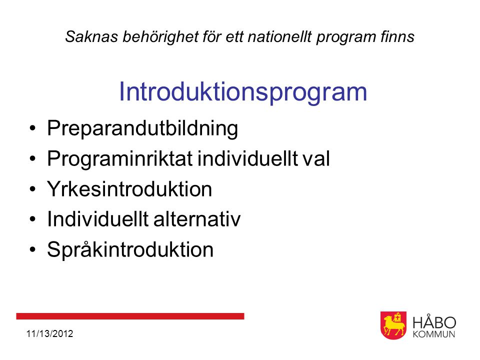 Programinriktat individuellt val Yrkesintroduktion