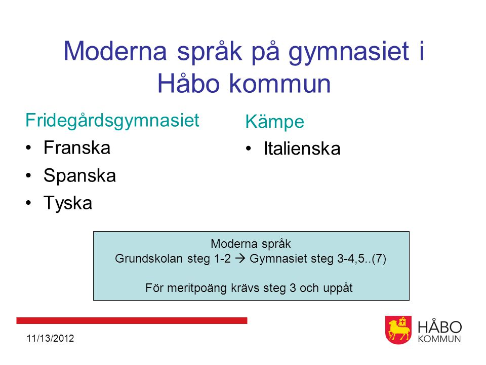 Moderna språk på gymnasiet i Håbo kommun