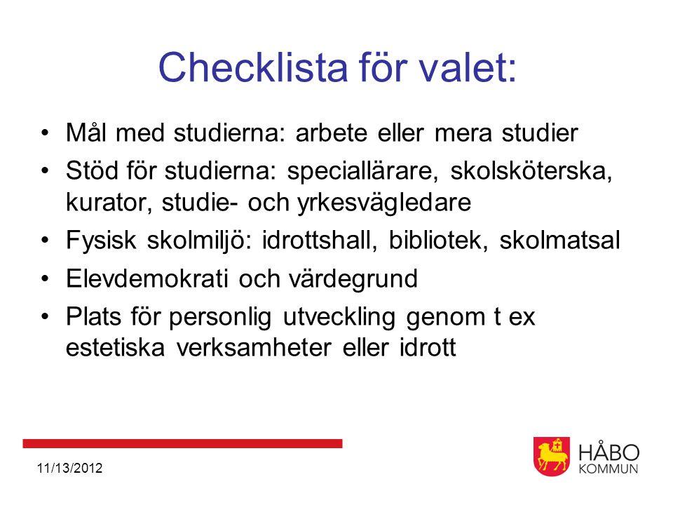 Checklista för valet: Mål med studierna: arbete eller mera studier