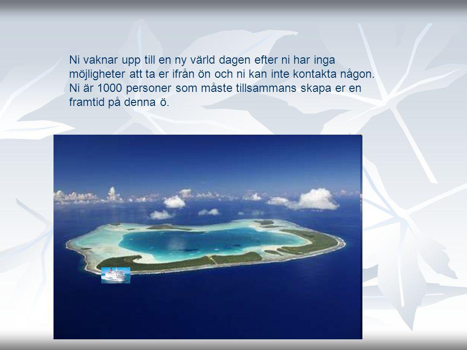 Ni vaknar upp till en ny värld dagen efter ni har inga möjligheter att ta er ifrån ön och ni kan inte kontakta någon.