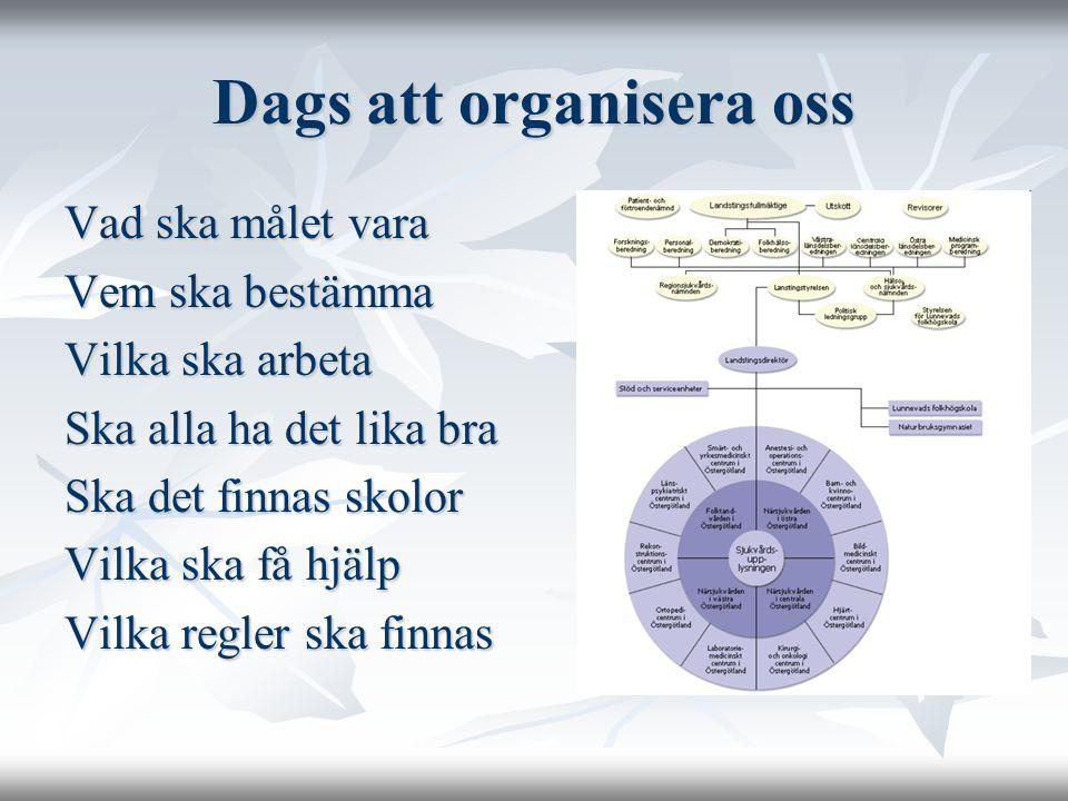 Dags att organisera oss