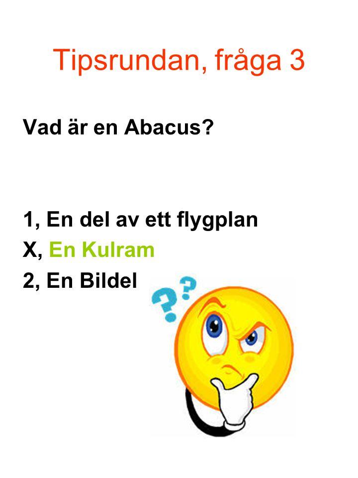 Tipsrundan, fråga 3 Vad är en Abacus 1, En del av ett flygplan