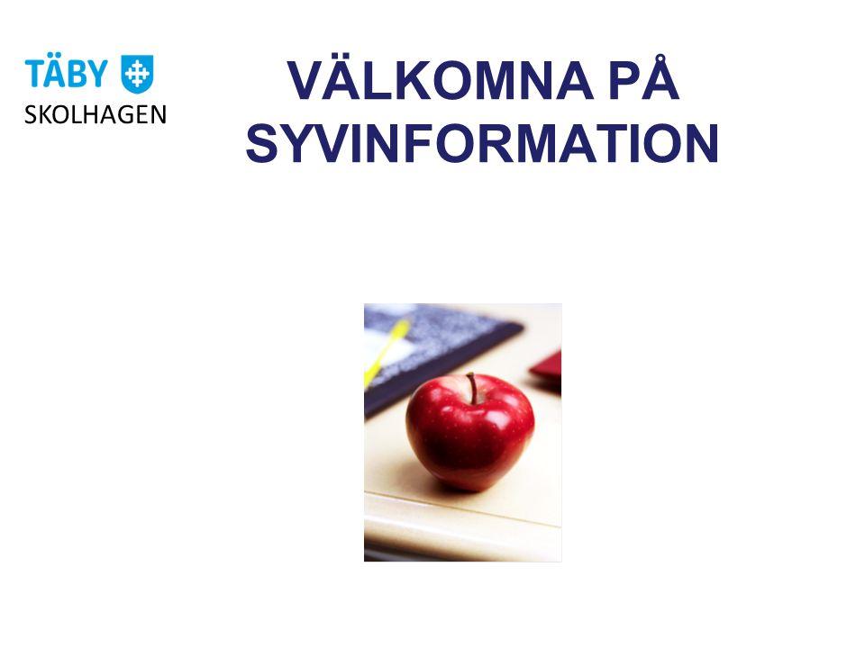 VÄLKOMNA PÅ SYVINFORMATION