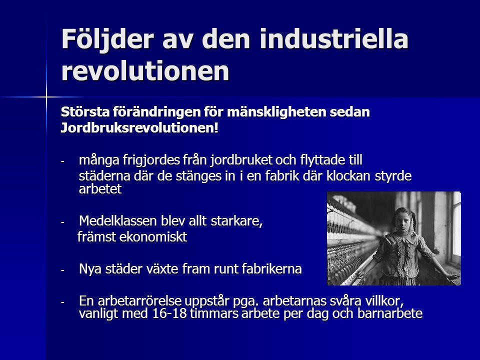 Följder av den industriella revolutionen