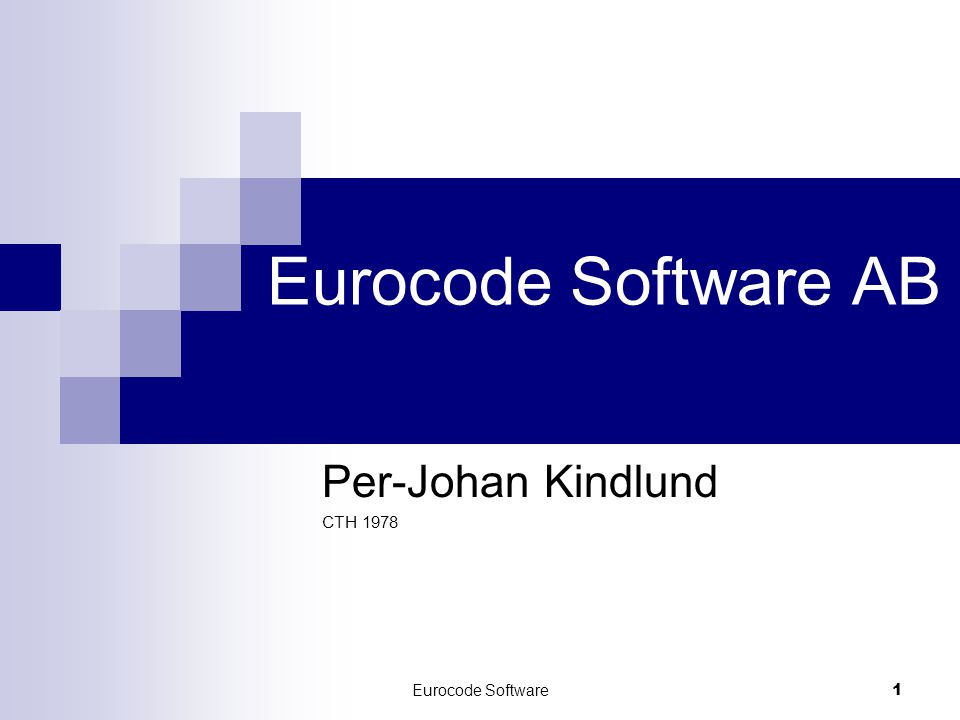 Per-Johan Kindlund CTH 1978