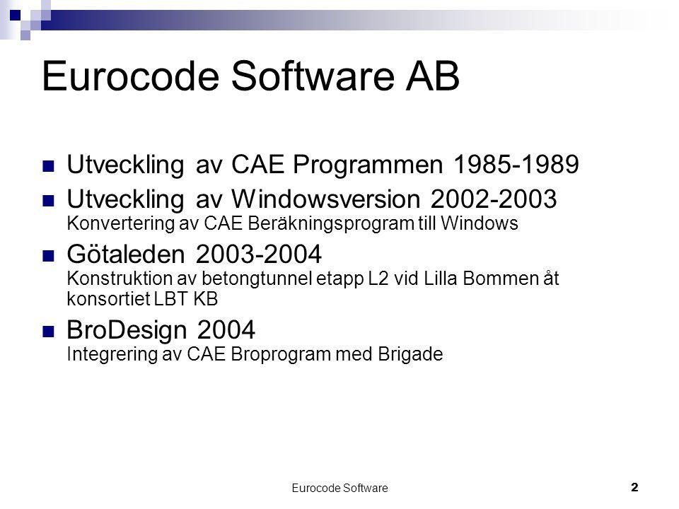Eurocode Software AB Utveckling av CAE Programmen 1985-1989