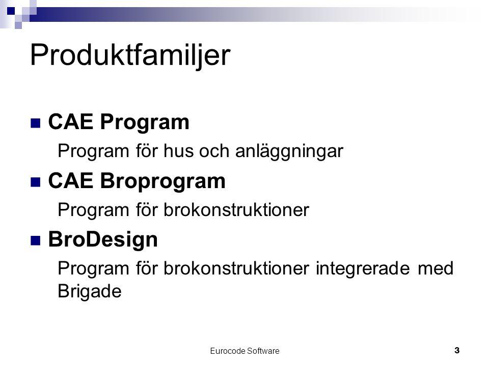 Produktfamiljer CAE Program CAE Broprogram BroDesign