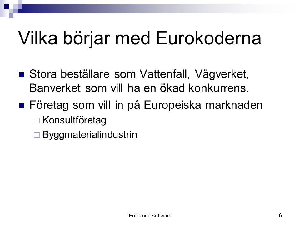 Vilka börjar med Eurokoderna