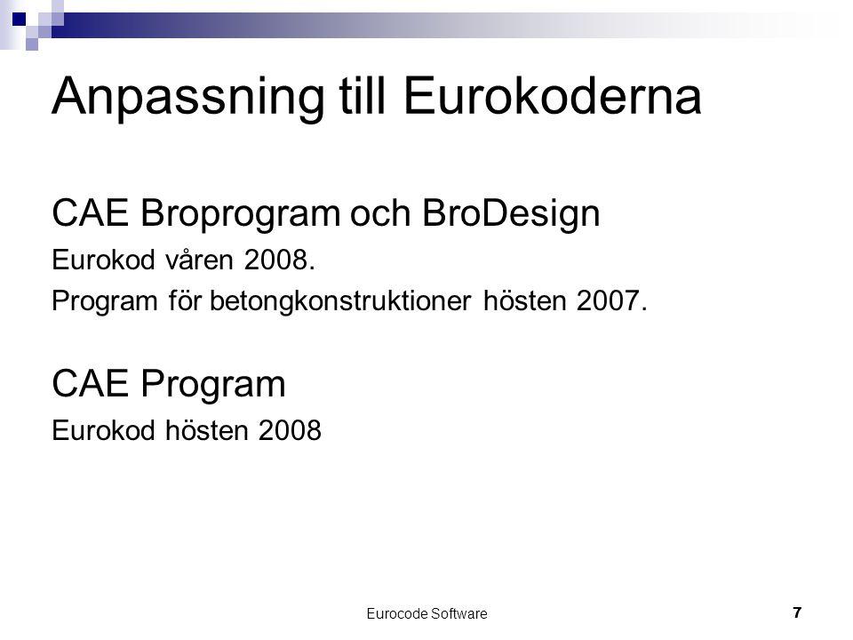 Anpassning till Eurokoderna