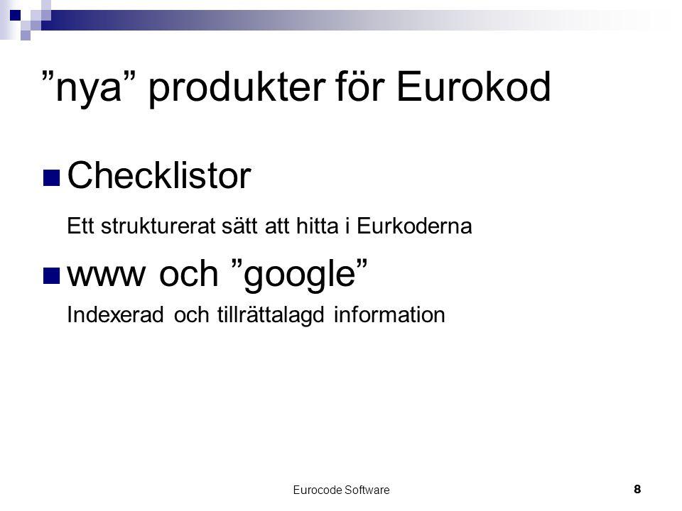 nya produkter för Eurokod