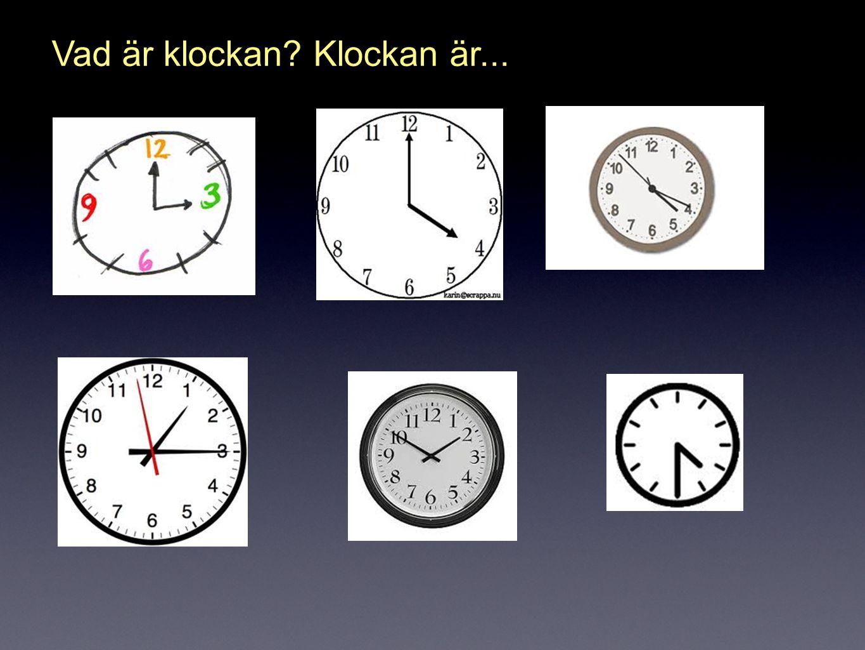 Vad är klockan Klockan är...