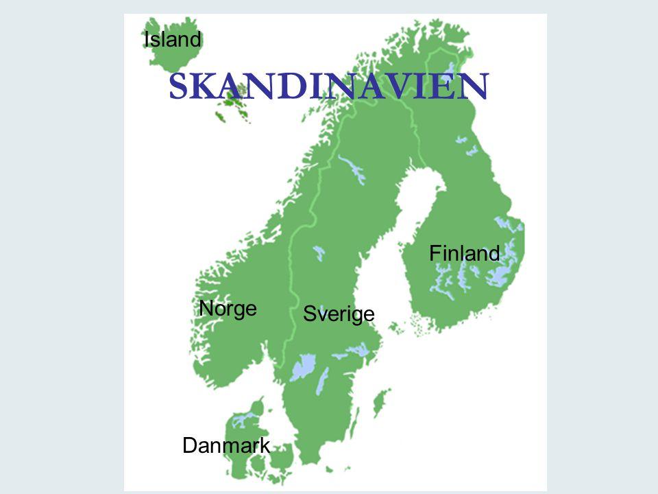 Island SKANDINAVIEN Finland Norge Sverige Danmark