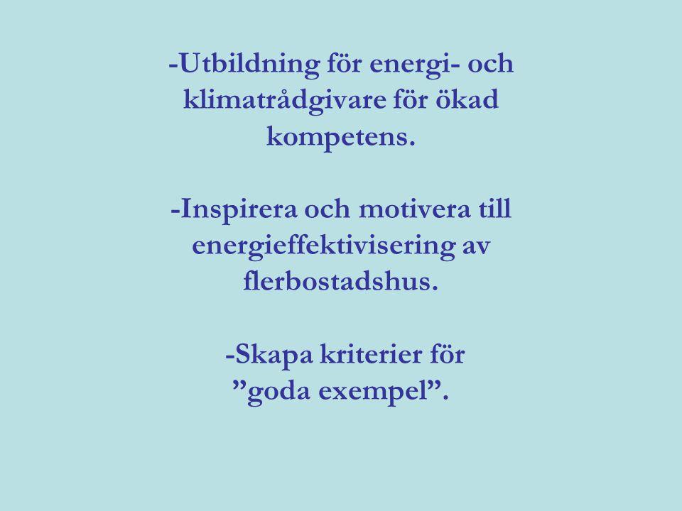 -Utbildning för energi- och klimatrådgivare för ökad kompetens
