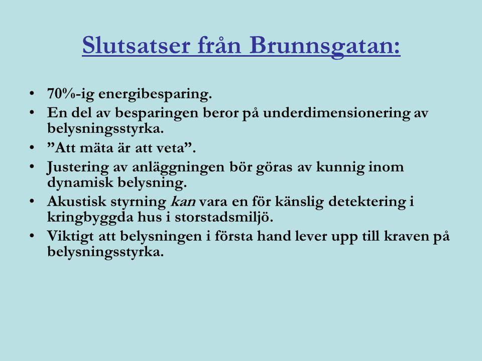 Slutsatser från Brunnsgatan: