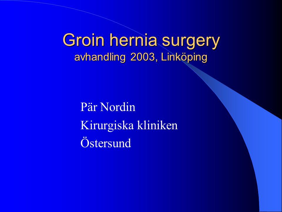 Groin hernia surgery avhandling 2003, Linköping