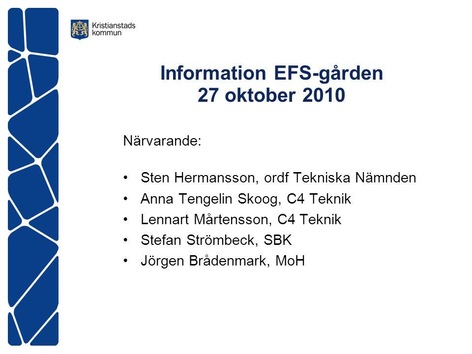 Information EFS-gården 27 oktober 2010