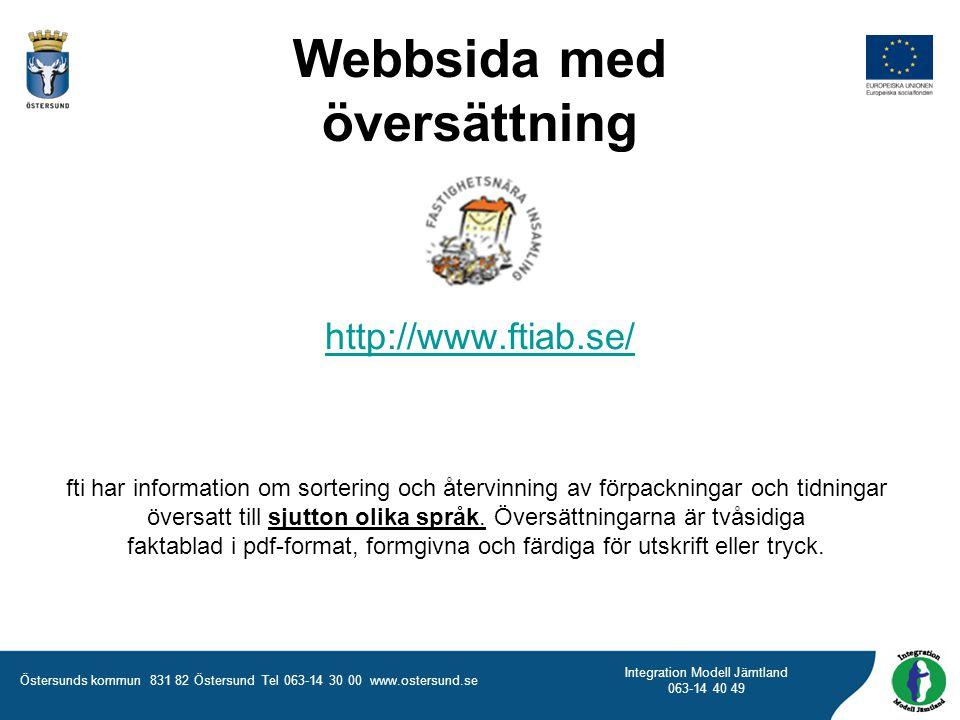 Webbsida med översättning